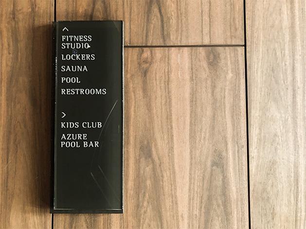 プールとフィットネススタジオ